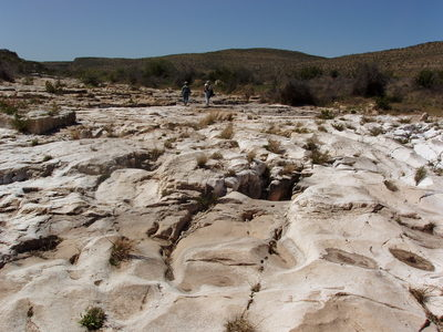 Bedrock stream bed, Dark Canyon, Guadalupe Mountains, New Mexico.